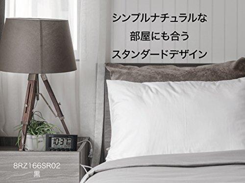 『リズム(RHYTHM) 目覚まし時計 電波時計 温度計・湿度計付き フィットウェーブスマート 黒 7.7×12×5.4cm 8RZ166SR02』の9枚目の画像