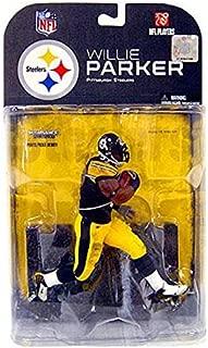 McFarlane Toys, NFL Series 18, Willie Parker Pittsburgh Steelers Black Wrist Tape Variant