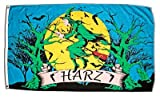 Fahne / Flagge Harz Hexe + gratis Sticker, Flaggenfritze®