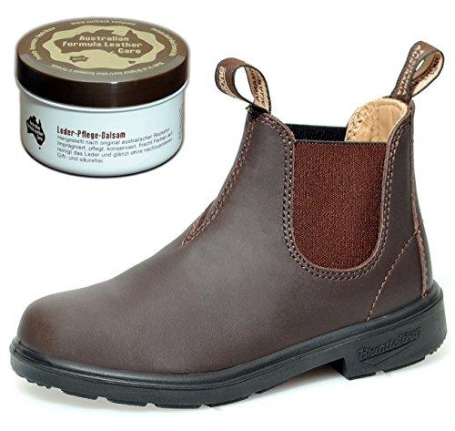 Blundstone Kids Boots Style 530 Blunnies - Stiefeletten für Kinder - Braun - Gr. 1 UK + Lederpflege