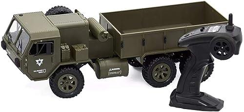 tiendas minoristas CXZC Camión Militar RC RC RC Radio Control de 2.4GHz 1 16 All Terrain Military Truck 6WD RTR Control Remoto eléctrico Off Road Vehicle Crawler Regalo para Niños Niños  tienda en linea