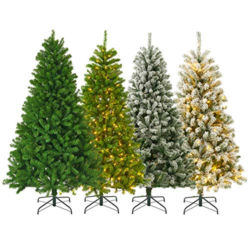 KENSWINO künstlicher Weihnachtsbaum 180 cm, Schnell aufbau mit klappbares Regenschirmsystem, schwer entflammbar, Metall Christbaum Ständer, Weihnachtsbaum ca.800 Spitzen(Ø ca. 110 cm)