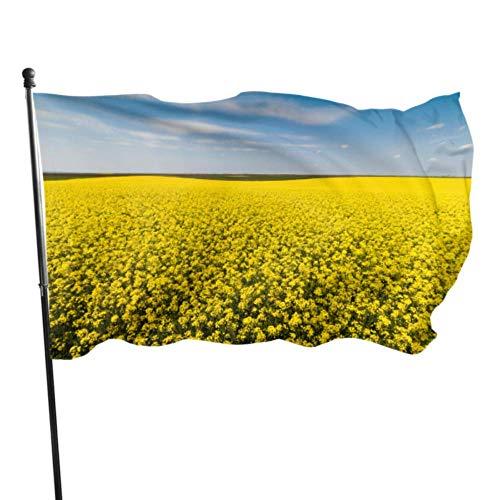 Florasun Grand drapeaux décoratifs dorés 3 x 5 pieds Couleurs vives Polyester et œillets en laiton