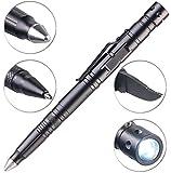 VisorTech Kubotan: 5in1-Tactical Pen mit Kugelschreiber, LED, Glasbrecher & Brieföffner...