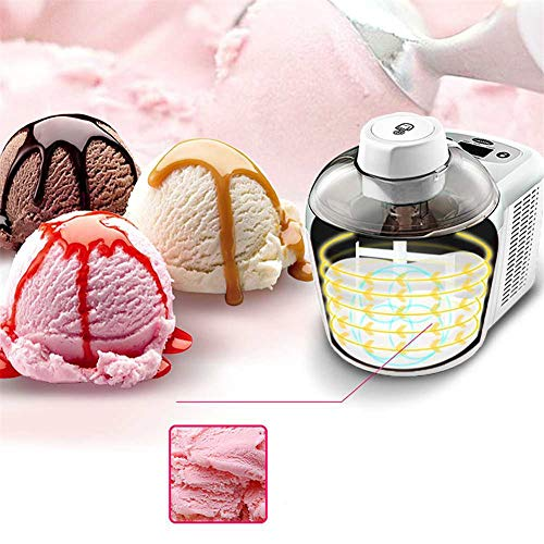 Lowest Price! YANG WU 1.5 L Quart Frozen Yogurt-Ice Cream Maker, Automatic Sorbet Machine Freezer Bo...