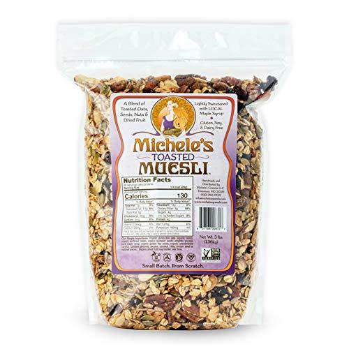 Michele's Granola Muesli, Toasted Muesli Cereal, Gluten-Free, No Refined Sugar & Non GMO, 3 LB Bulk Bag
