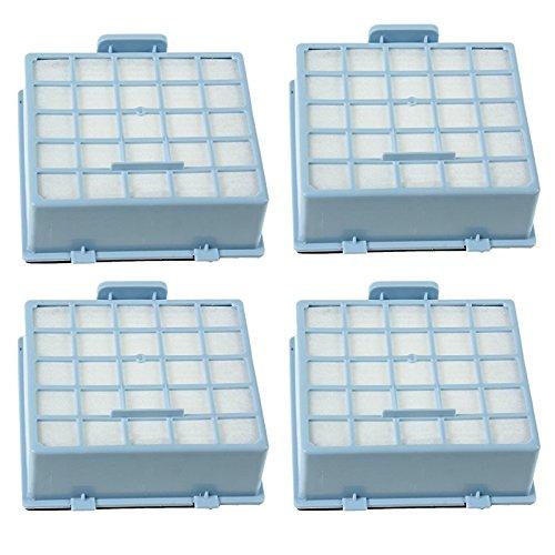 SPARES2GO Hoge Filtratie HEPA Filter Cassette voor Bosch Stofzuigers (Pak van 4, Blauw)