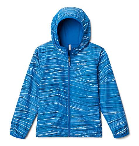 Columbia Youth Unisex Pixel Grabber Reversible Jacket, Bright Indigo Hill Stripe, X-Small