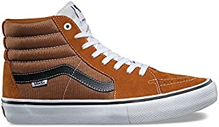 Vans Sk8 Hi Pro Womens 9 / Mens 7.5 Glazed Ginger Black White Fashion Sneaker