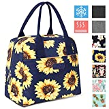 DIIG Lunch Box for Women, Insulated Lunch Bags for Women, Large Cooler Tote For Work, Floral Reusable Snack...