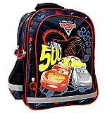 Disney - Cars 3 - The Florida 500 - Zaino per la scuola - 38 x 29 x 17 cm - adatto per DIN A4 - Motivo: Lightning McQueen + Jackson Storm + Cruz Ramirez - per scuola, sport e tempo libero