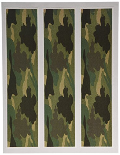 Camouflage Camo Edible Icing Image Cake Strips Side Edge Decoration 3pc by Whimsical Practicality
