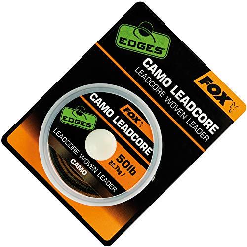 Fox Leadcore Camo 25m 50lbs - Vorfachschnur zum Angeln auf Karpfen, Vorfachmaterial zum Karpfenangeln, Karpfenschnur für Vorfächer
