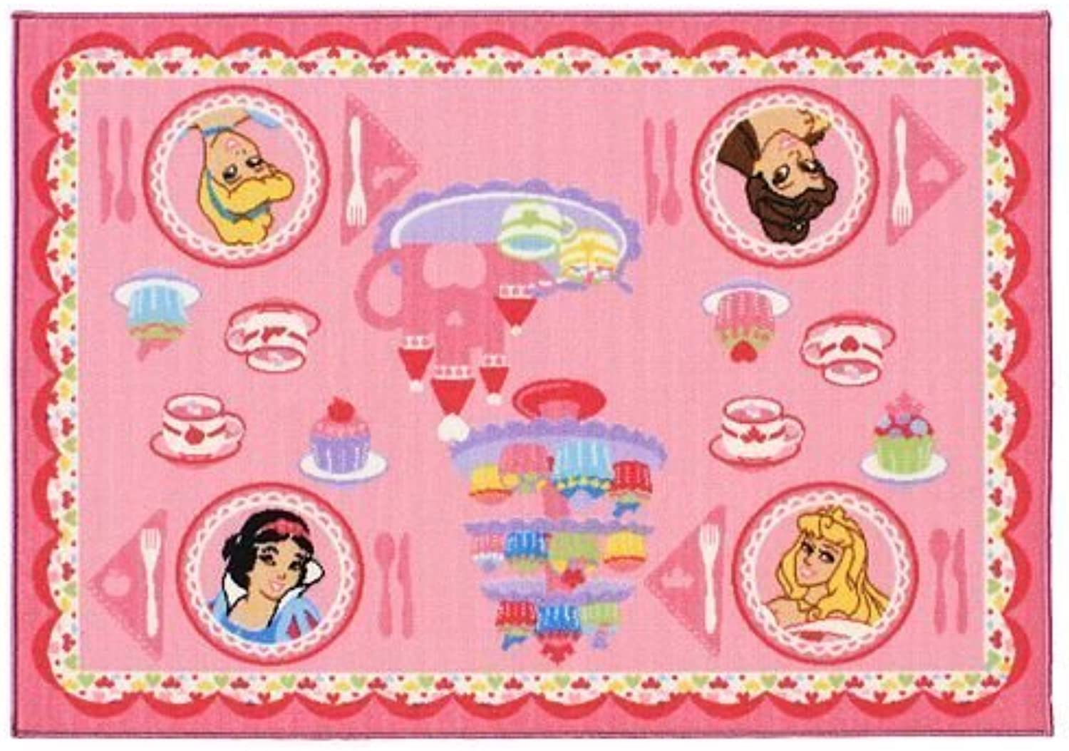Disney Princess Tea Party Game Rug by G.A. Gertmenian & Sons