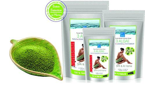 3 Algas Marinas Polvo de Algas para Faciales, Envolturas Corporales y Baño 500 g