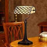 Household products Modern Style Wohnzimmer Schlafzimmer Tischlampe 10-Zoll-Tiffany-Lampe Europäische Einfach Schreibtischlampe Nachtlicht-Buntglasperlenvorhang, Tisch, Schreibtisch-Lampen-Licht
