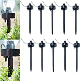 CoscosX 10 Pcs Automatic Self Watering Stakes Device Spikes Adjustable Flow Rate Drip DIY Vacation Watering Seepage Moving Controller Water Feeder Dropper Bottle Irrigation Plant Waterer Garden Cone