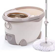 BTYAY Mop,Spin Mop Bucket Set - for Home Kitchen Floor Cleaning - Wet/Dry Usage on Hardwood & Washable Microfiber Mops Heads