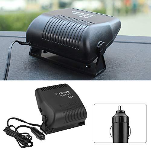 Dégivreur d'appareil de chauffage de voiture, appareil de chauffage portatif de pare-brise de voiture de 12v 150w, appareil de chauffage de dégivreur de désembueur de pare-brise pour l'hiver