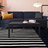 Ameriwood Home Parsons Modern Coffee Table, Black
