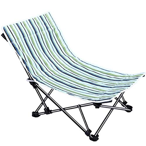 FABAX Travel Outdoor Chair Outdoor Beach Camping Chair Oxford Cloth Portable Folding Fishing Chair Seat Fishing Festival Picnic BBQ Leisure Chair Camping Chair (Color : Green)