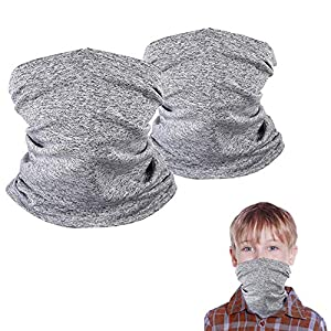 Summer Kid Face Scarf Neck Gaiters, 5-12 Years Kids Balaclava Bandanas, Gifts for boy and Girl
