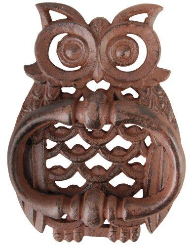 Esschert TT183diseño Hierro Fundido aldaba para Puerta, diseño de búho, Color marrón