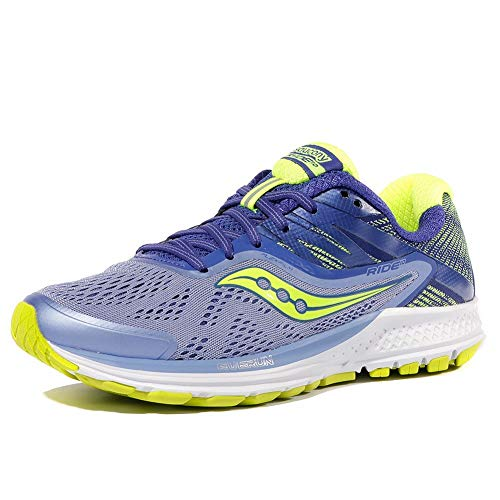 Saucony Women's Ride 10 Running Shoe, Purple Citron, 7.5...