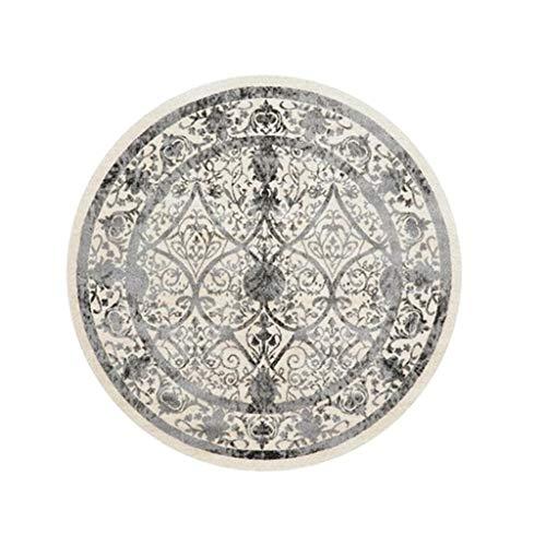 Jian E-Rond tapijt, Marokkaans, etnische stijl, nachtkastje, mat, American Retro, draaibaar, mand mat (kleur: N. 6, afmetingen: 80 cm diameter.