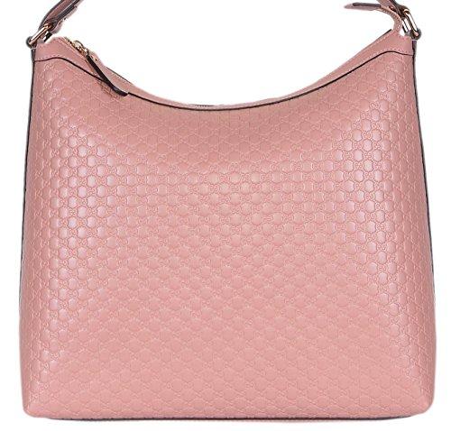 Fashion Shopping Gucci Women's Micro GG Guccissima Leather Hobo Handbag (449732/Soft Pink)
