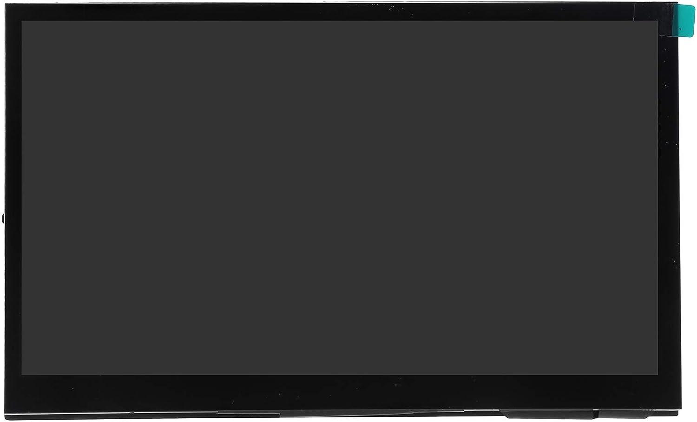 Pantalla de Monitor de 7 Pulgadas, Pantalla Táctil IPS HD de 1024 X 600 con Altavoces Duales para Raspberry Pi Pantalla de Computadora Soporte Táctil de 5 Puntos Entrada HDMI Conecta y Reproduce(7in)
