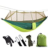 Apsung Portable Hammock Camping with Mosquito Net,Hammock Tree Straps and Carabiners,Easy Assembly,Lightweight Nylon