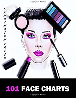 101 Face Charts: Female Face Charts For Makeup Artists Large Book