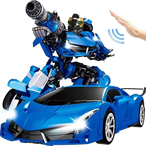 Best Review Of Woote 1/12 Large Intelligent Gesture Sensing Remote Control Deformation Cars Optimus ...