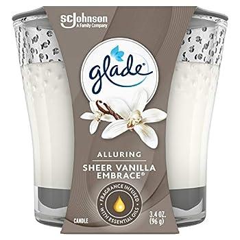 Glade Candle Jar Air Freshener Sheer Vanilla Embrace 3.4 Oz