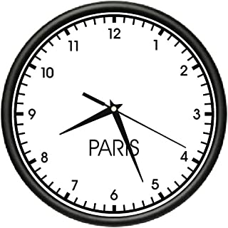 SignMission Paris Wall World time Zone Clock Office Business, Beagle