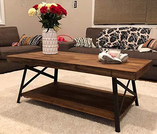 "Metal Table Legs Cast Iron Dining Table Legs,15.7"" Height 14"" Wide Black Desk Legs,Industrial Bench Legs,Rustic Heavy Duty DIY Furniture Legs,Square Tube Coffee Table Legs 2 PCS"