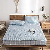 CYYyang Protector de colchón de bambú Funda de colchón y Ajustable Una Sola Pieza de Hoja de Cama engrosamiento-12_150 * 200cm