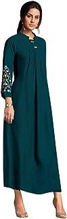 Indian Cocktail Party wear Rayon Kurti Women Evening Long Midi Formal dress 8145