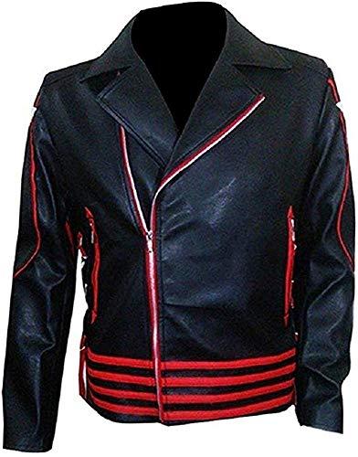 Freddie Mercury gele koningin Wembley concert gele riem Cosplay kostuum jas - Heren imitatieleer jas