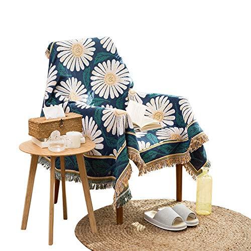 Telihome decoración del hogar Tela sofá Toalla de Punto Manta de Lino Manta Multifuncional Alfombra Pastoral impresión Zou Ju 230 * 330 cm
