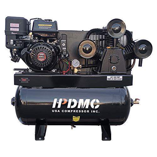HPDMC 13HP Running@125Max psi / 30 gal ASME tank high Efficiency 43.5CFM Service Trucks Fit for Ford Gas Driven Piston Air Compressor