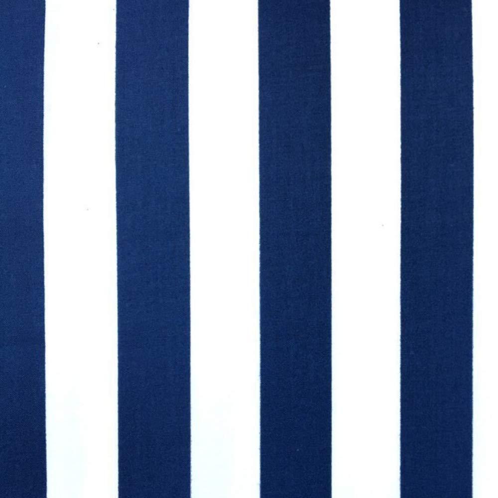 Pingianer - Tela de algodón a rayas para niños, 100 % algodón, por metros, artesanía, tela de costura, algodón, Rayas azul oscuro y blanco., 100x160cm (11,99/m): Amazon.es: Juguetes y juegos