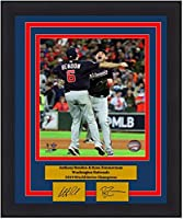 """Anthony Rendon & Ryan Zimmerman Nationals 2019 World Series Champions 8"""" x 10"""" Framed and Matted Baseball Photo with Engraved Autographs"""