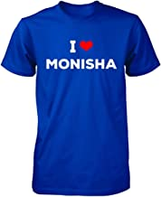 I Love Monisha Men Tshirt