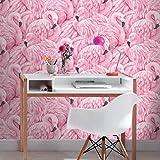 Rasch 277890 - Papel pintado, diseño de flamencos, color rosa
