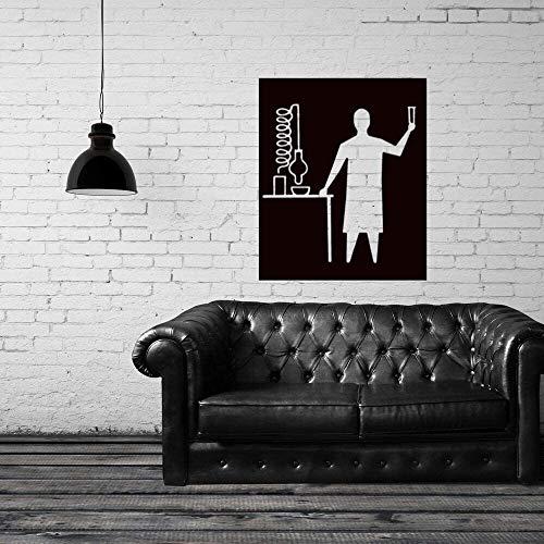 Chemiker Im Labor Wandaufkleber Aufkleber Design Chemie Aufkleber Wand Home Schlafzimmer A57X70Cm