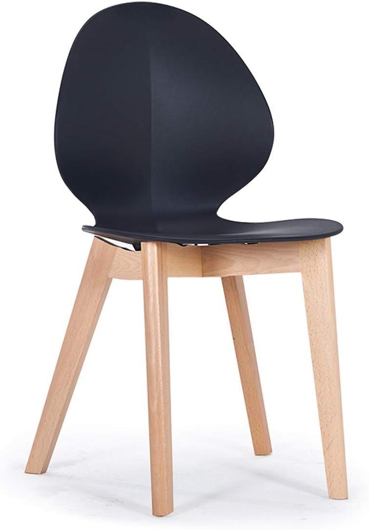 QNN Accueil Moderne Minimaliste Mode Salle À Manger Chaise Creative Mode Café Table Et Chaise Combinaison En Plastique Salle À Manger Chaise Chaise,Blanc Noir