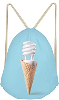Sports Drawstring BackpackCompact fluorescent bulb in ice cream cone