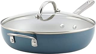 Ayesha Curry Home Collection Porcelain Enamel Nonstick Covered Deep Skillet With Helper..